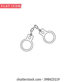 Handcuffs Icon Vector.