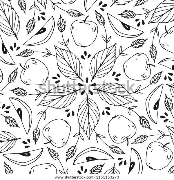 Handdrawing Autumn Mandala Style Coloring Page Stock Vector Royalty