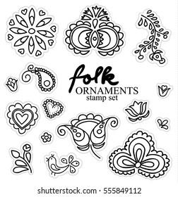 Hand-drawing folk ornaments