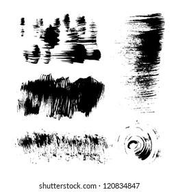 Hand-drawing texture stiff brush strokes