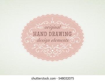 hand-drawing vintage frame