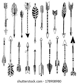 hand-drawn 20 arrows collection