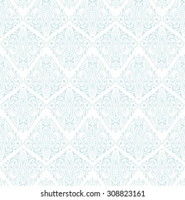Hand-drawn abstract lace vintage ethnic paisley ornament. Seamless retro pattern can be used for wallpaper, pattern fills, web page background,surface textures - stock vector.
