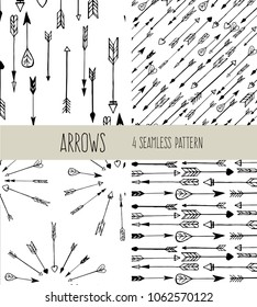 handdrawn arrows seamless pattern