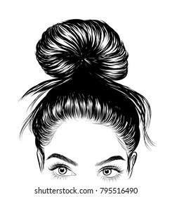Hair Bun Images Stock Photos Vectors Shutterstock