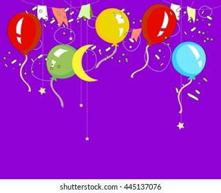 Hand-drawn birthday celebration design, Vector.