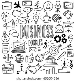 hand-drawn business doodles