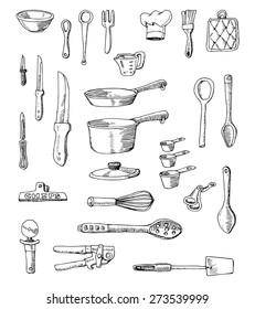 Hand-drawn Cookware Set Illustration