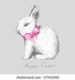 hand-drawn cute bunny