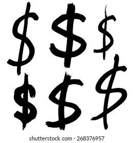 hand-drawn dollar sign