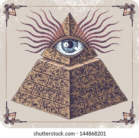 Hand-drawn Eye of Providence.