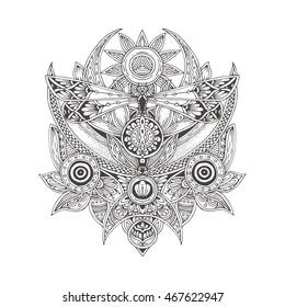 Adult Coloring Pages Sun Moon High Res Stock Images Shutterstock