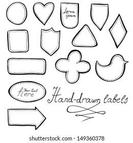 Hand-drawn labels set