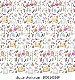 handdrawn love seamless pattern