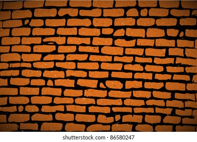 hand-drawn old brick wall