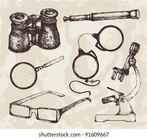 Hand-drawn optics illustration