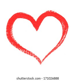 Hand-drawn painted heart, vector element for your design
