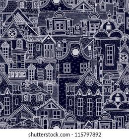 手描き イラスト ヨーロッパ街並みのベクター画像素材画像ベクター