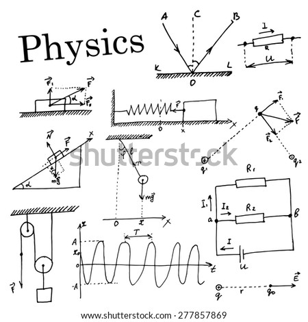 Enjoyable Handdrawn Set Collection Element Physics Stock Vector Royalty Free Wiring 101 Akebretraxxcnl