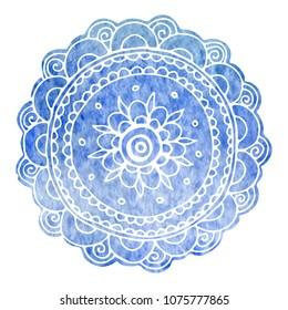 hand-drawn watercolor mandala