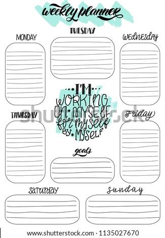 handdrawn weekly do list templates handwriting stock vector royalty