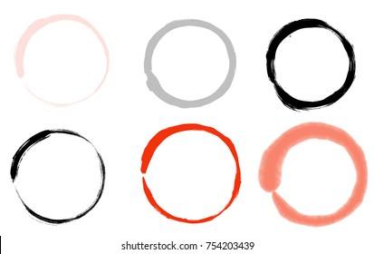 Hand-drawn zen circle minimalistic vector art