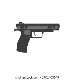 handgun pistol, vector on white background