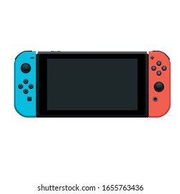 handheld console gaming and gadget high vector illustration