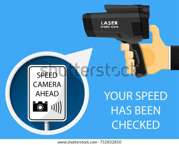 Handheld Speed Radar Lidar Laser Camera Stock Vector Royalty Free