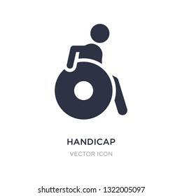 handicap icon on white background. Simple element illustration from Alert concept. handicap sign icon symbol design.