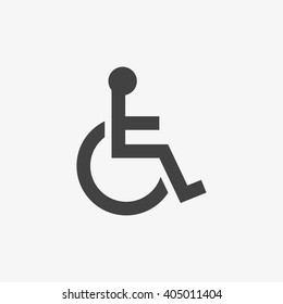Handicap Icon in trendy flat style isolated on grey background. Accessibility symbol for your web site design, logo, app, UI. Vector illustration, EPS10.