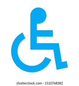 Handicapped or Accessibility icon vector illustration - Public sign,symbol,label,wheelchair icon etc.
