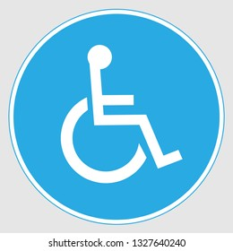 Handicapped Door Sign on a gray background