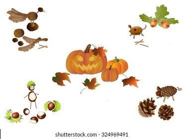 Handicraft in autumn