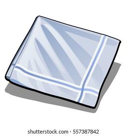 Handkerchief isolated on white background. Vector illustration.