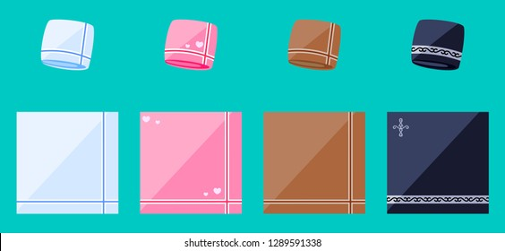 Handkerchief for male and female, Flat vector illustration isolated on EPS10.