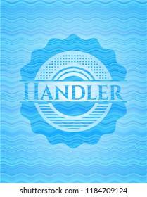 Handler water concept badge background.