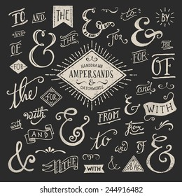 hand-lettered ampersands and catchwords