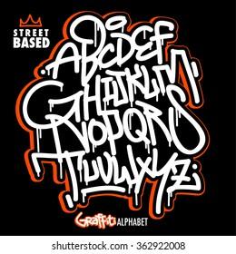 Handlettering Graffiti Alphabet