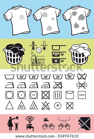 Handling Care Clothing Picture Symbols On Stock Vector Royalty Free