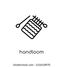 handloom icon. Trendy modern flat linear vector handloom icon on white background from thin line Sew collection, outline vector illustration