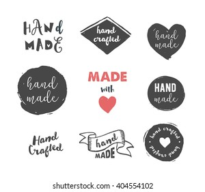 Handmade, crafts workshop, made with love icons