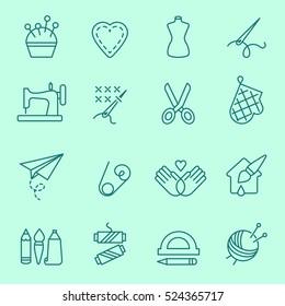 Handmade icon, thin line, flat design.