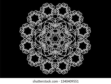 handmade lace on a black background