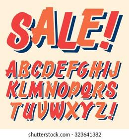 Handmade script font. Vector comic letters. Funny alphabet for decoration
