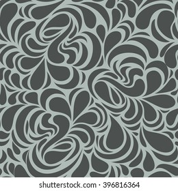 Handmade Seamless repeat swirl floral pattern Curl Fashion Wallpaper