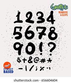 Handmade Street Based Numbers and Glyphs