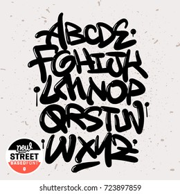 Handmade Street Font and Pattern