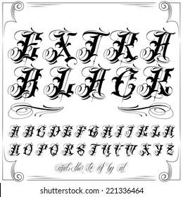 Handmade tattoo vector lettering
