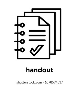 handout icon isolated on white background, vector illustration